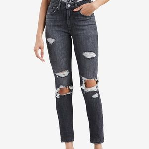 Levi's high-rise ripped skinny jeans